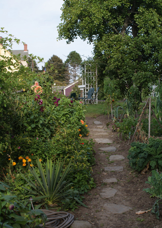 Victory Garden Path, Strawbery Banke Museum